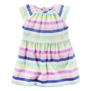 Baby Girl Neon Striped Dress | Carters.com