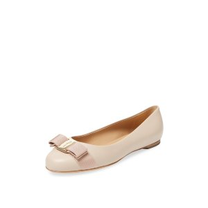 Varina Leather Ballet Flat by Salvatore Ferragamo at Gilt