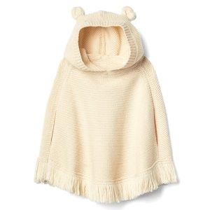 Fringe bear garter poncho