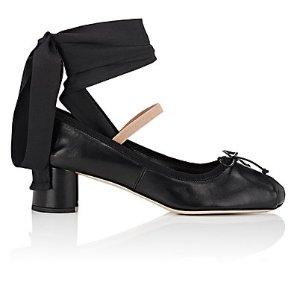 Miu Miu Leather Ankle-Tie Pumps | Barneys New York