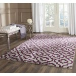 Safavieh Porcello Contemporary Geometric Light Grey/ Purple Rug (3' x 5')