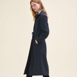 GINTA Long wool coat