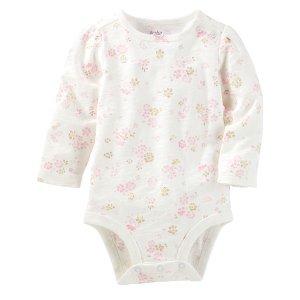 Baby Girl Floral Bodysuit | OshKosh.com