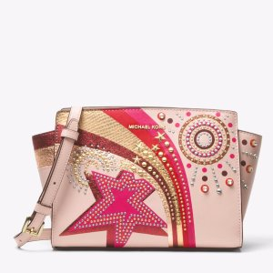Selma Embellished Leather Messenger