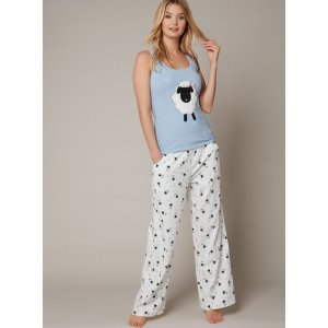 Lamb Pyjama Set - Blue Mix | Boux Avenue