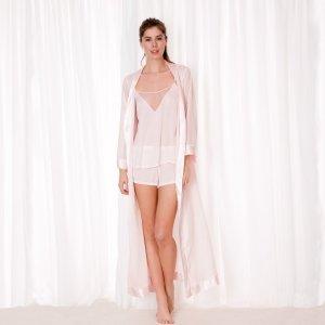 Long Kimono Pale Pink – Bluebella