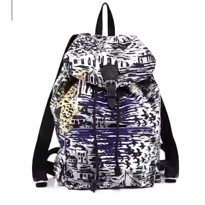 Burberry - Coastal Printed Leather Backpack - saks.com