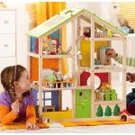 Hape All Seasons Kid's Wooden Doll House Furnished with Accessories