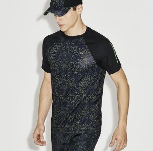 $55.99($80)Lacoste Men's SPORT Print Technical Jersey Tennis T-Shirt