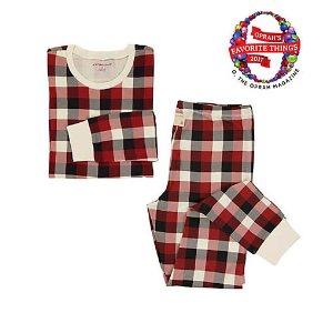 Womens Organic Buffalo Plaid Pajama Set
