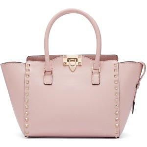 Valentino: Pink Small Rockstud Tote