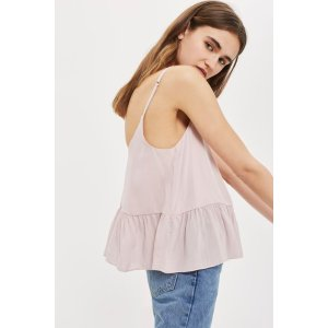 Relaxed Peplum Camisole Top - Tops - Clothing - Topshop USA