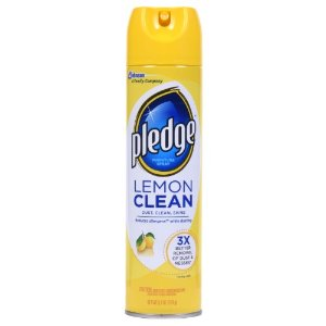 Pledge Lemon Clean Furniture Spray, Lemon, 9.7 Oz   Jet.com