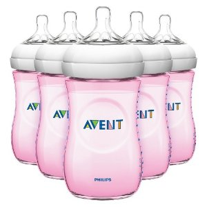 Philips Avent Natural Bottle Pink or Blue (5 Pack) : Target