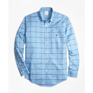 Non-Iron Regent Fit Windowpane Sport Shirt - Brooks Brothers