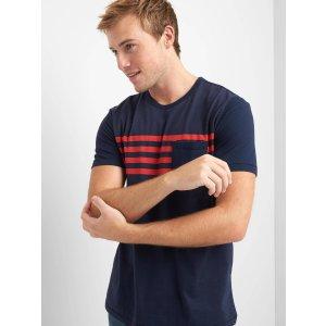 Stripe pocket short sleeve tee | Gap