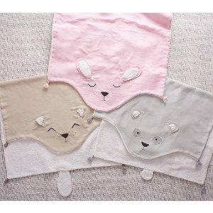 Linen Sherpa Critter Blanket | Pottery Barn Kids