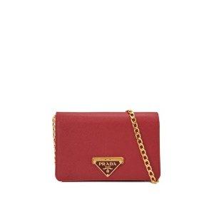 Prada Saffiano Lux Wallet On Chain