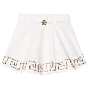 Young Versace White and Gold Medusa Detail Skirt | AlexandAlexa