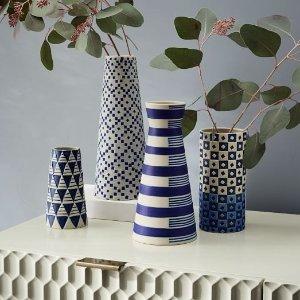 Indigo Ceramic Vases | west elm