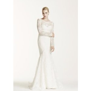 SAMPLE As-Is Long Sleeve Lace Trumpet Wedding Dress