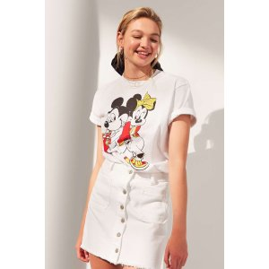 FILA + UO Mickey + Minnie Short Sleeve Disney Tee | Urban Outfitters