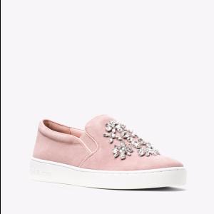 Keaton Embellished Suede Slip-On Sneaker