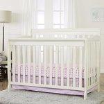 Dream On Me Ashton Convertible 5-in-1 Crib, Pearl White, 49 Pound
