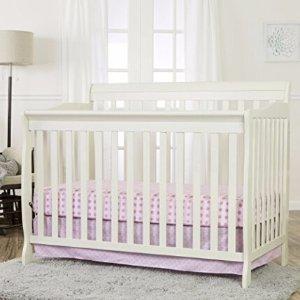 $84Dream On Me Ashton Convertible 5-in-1 Crib, Pearl White, 49 Pound