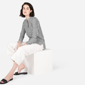 The Cotton Poplin Split-Neck Popover Shirt | Everlane
