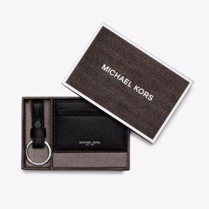 卡包只要$19.99 礼盒$47.20Michael Kors 男士卡包 钥匙扣礼品套盒