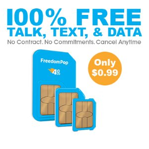 Only pay $0.99!Get 2 LTE GSM Sim Cards + Unlimited talk, text, and Shared 4GB