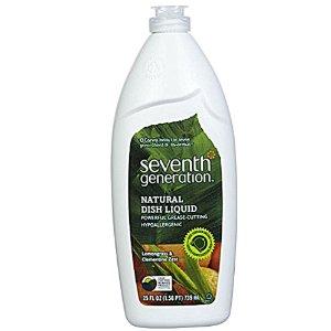 Seventh Generation Natural Dish Liquid Clementine Zest & Lemongrass -- 25 fl oz