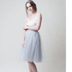Gretta Tulle Skirt - Pale Grey - 30