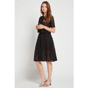 Square Lace Midi Skirt