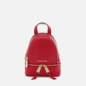 MICHAEL MICHAEL KORS Women's Rhea Zip Extra Small Backpack - Bright Red - Free UK Delivery over £50