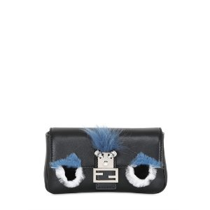 FENDI - MICRO BAGUETTE MONSTER LEATHER BAG - SHOULDER BAGS