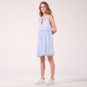 Floaty Dress With Starry Lace - Dresses - Sandro-paris.com