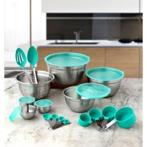 Better Homes and Gardens 23-Piece Gadget and Utensil Set, Teal - Walmart.com