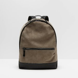 The Boulevard Leather & Suede Backpack in Sand | Frank + Oak