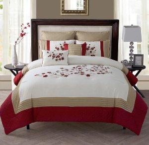 $64.04VCNY Cherry Blossom 7-piece Comforter Set