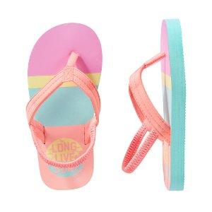 Kid Girl OshKosh Striped Surf Flip Flops | OshKosh.com