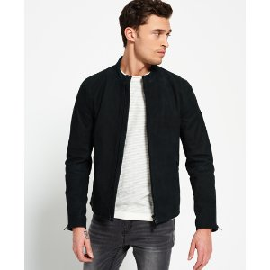Slim Nubuck Harrington Jacket