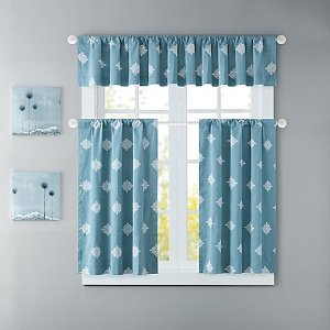 Ink & Ivy Shelby Window Curtain Panel and Valance - Bed Bath & Beyond