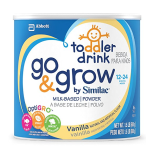 Go & Grow By Similac Milk Based Toddler Drink, Vanilla, Powder, 1.5lbs (Pack of 4)
