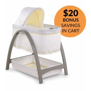 Summer Infant Bentwood Motion Bassinet - Chevron Leaf