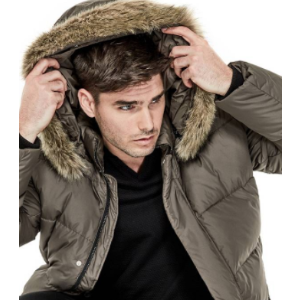 Faux-Fur Hooded Puffer Jacket at Guess