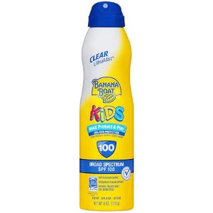 Buy 1, Get 1 50% OFF, Banana Boat Kids Max Protect & Play Continuous Spray Sunscreen, SPF 100