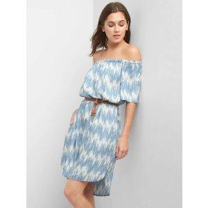 Off-shoulder belt dress | Gap