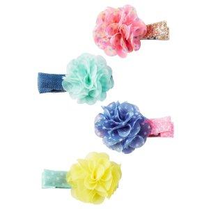 Baby Girl 4-Pack Pom Pom Hair Clips | Carters.com